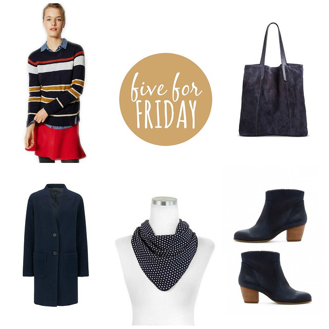five for friday navy lady | Style On Target blog