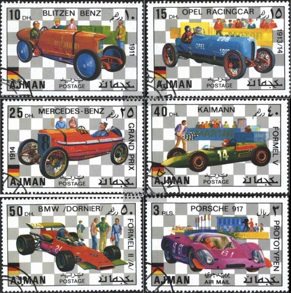 Známky Ajman 1971 Závodné automobily