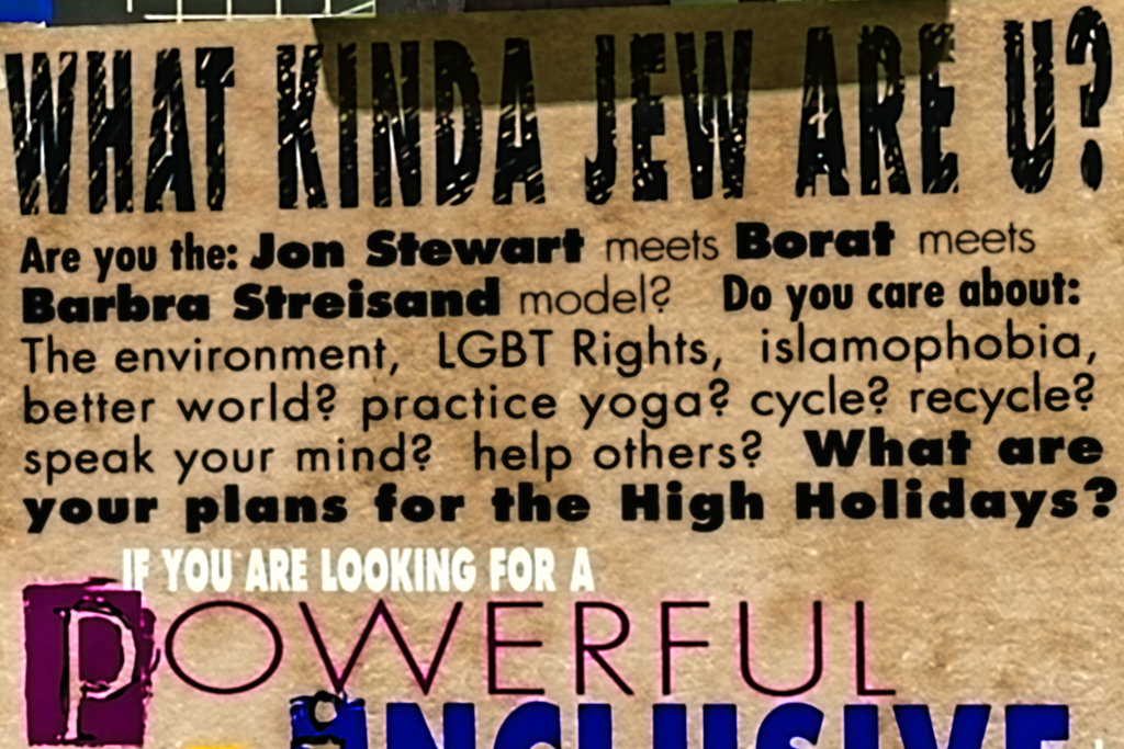 WHAT KIND OF JEW ARE U on 9-4-10--Manhattan (detail)