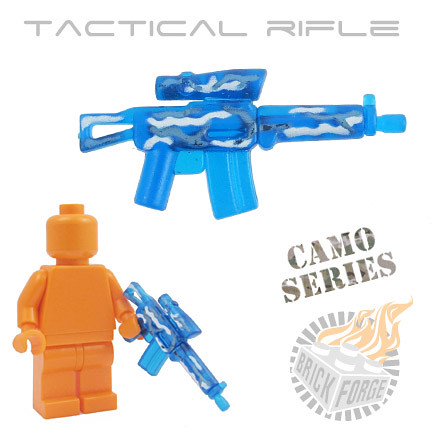 Tactical Rifle - Trans Dark Blue | by BrickForge
