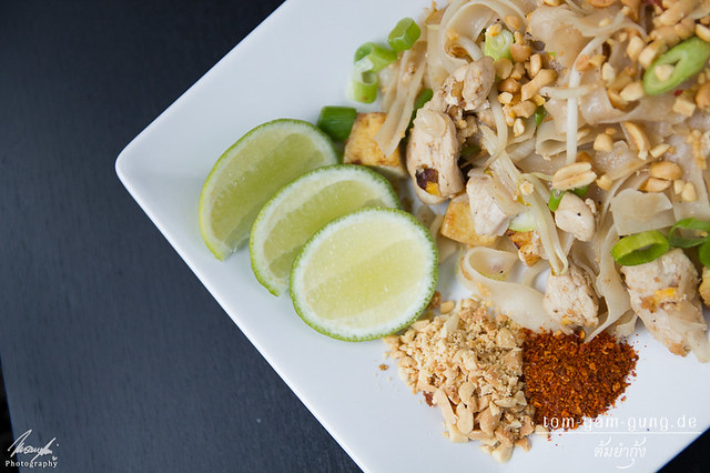 ผัดไทยไก่ (Pad Thai Gai) Gebratene Nudeln mit Huhn (original Rezeptur)