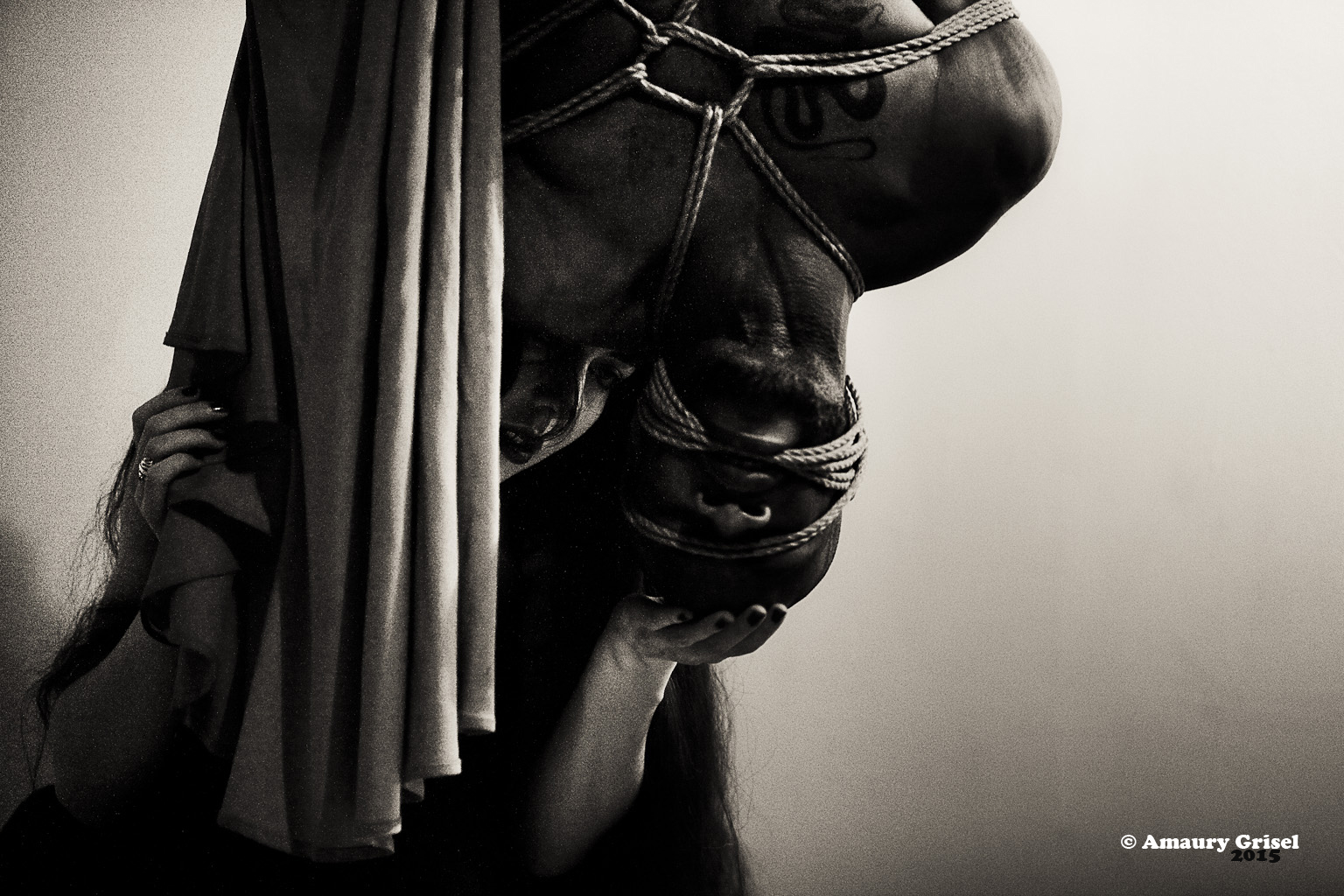 Shibari performance by Gestalta and Bishop