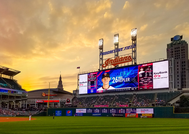 Sunset at Progressive Field