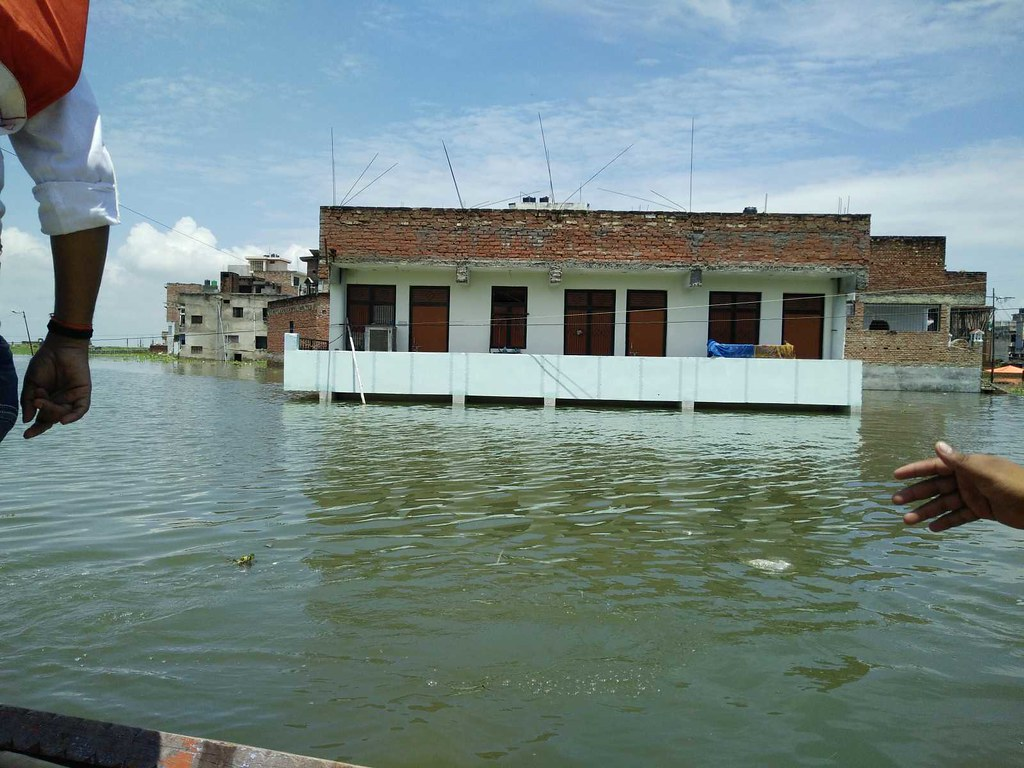 Flood Relief in Allahabad district, Uttar Pradesh