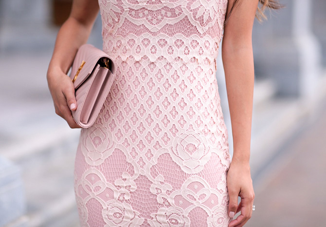 missguided lace bodycon pink dress