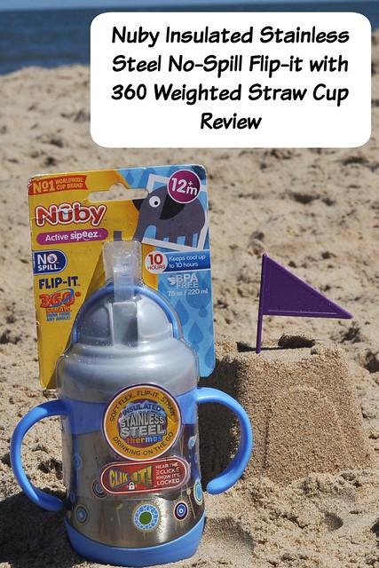Nuby Insulated Stainless Steel No-Spill Flip-it with 360 Weighted Straw cup Parent Blogger Review