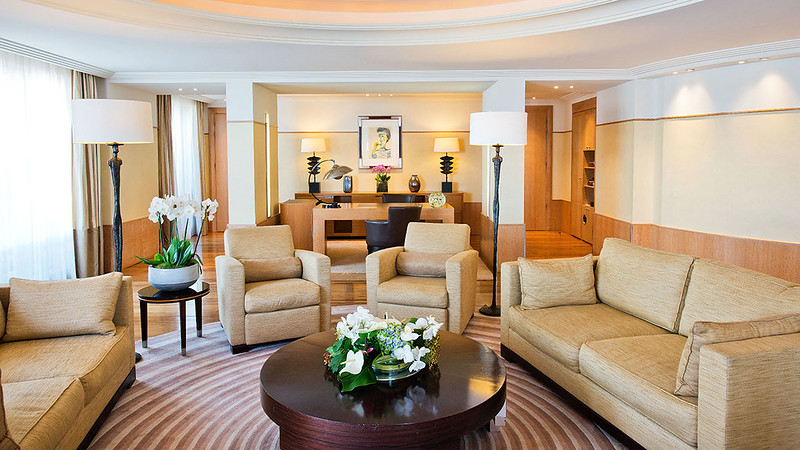 Penthouse Living Room at Grand Hyatt Cannes Hotel Martinez