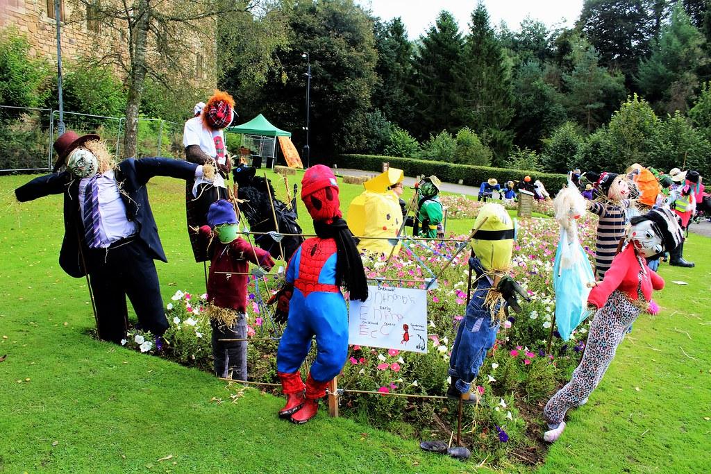 Scarecrows at Dean Castle, Scotland.