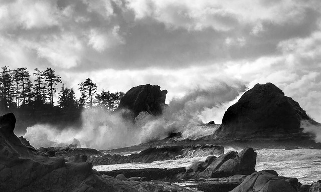 Winter waves, Oregon coast