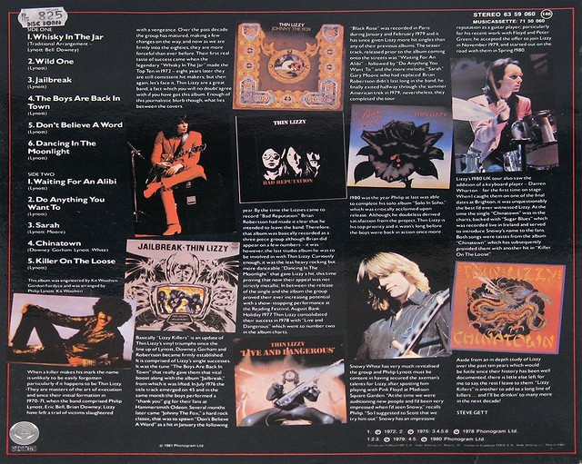 "Thin Lizzy Lizzy Killers vertigo 12"" vinyl LP"