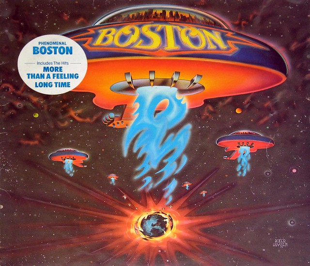 "BOSTON S/T SELF-TITLED SPANISH PRESSING 12"" LP"