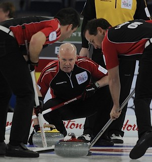 Edmonton Ab.Mar6,2013.Tim Hortons Brier.Ontario skip Glenn Howard,lead Craig Savill,second Brent Laing.CCA/michael burns photo | by seasonofchampions