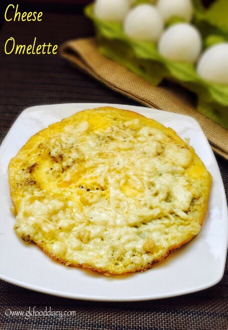Cheese Omelette Recipe for Babies, Toddlers and Kids - 2