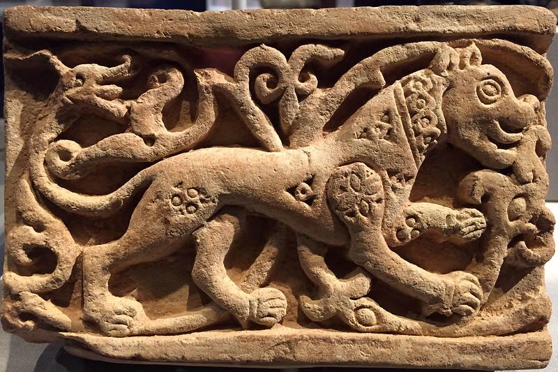 Frieze with lion