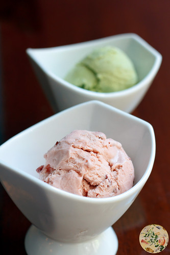 Green Tea and Red Bean Ice Cream