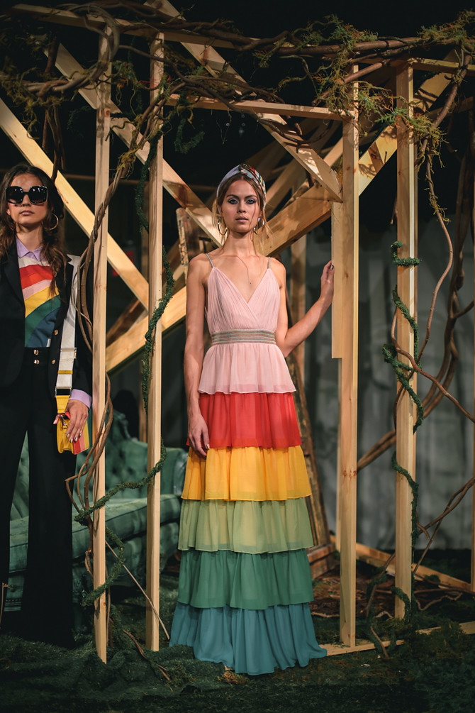 alice olivia rainbow maxi dress nyfw spring 17