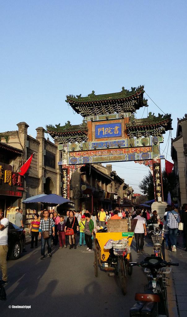 Kauppakujalla Xi'anissa