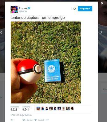 Meme Pokemon GO emprego 3