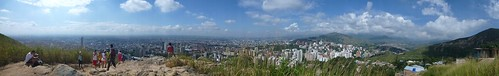 Panorama of the city from Tres Cruces hill