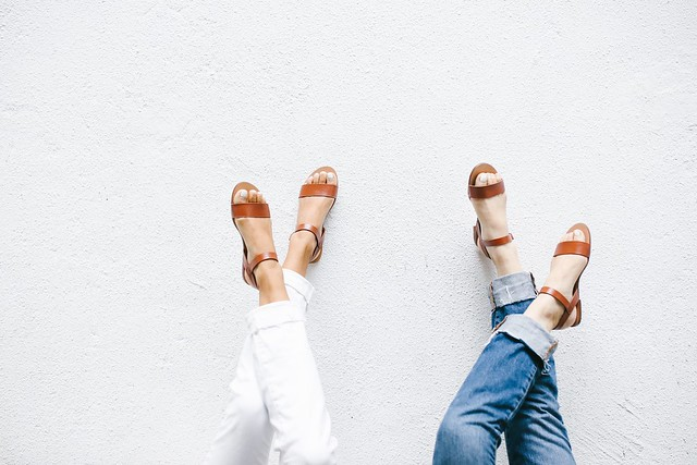 The simple sandal by a pair and a spare