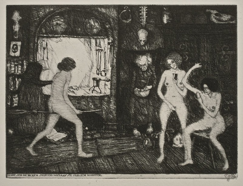 Stefan Eggeler - The Walpurgisnacht Portfolio (six etchings after Gustav Meyrinks) 1922 (1)