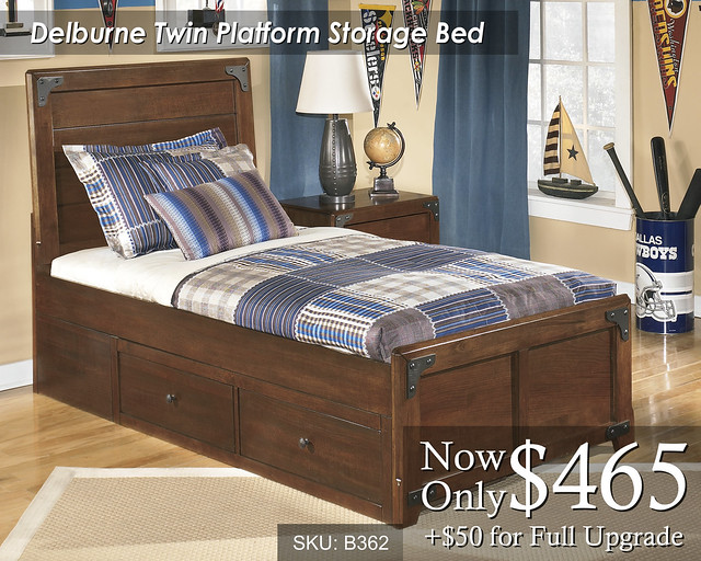 Delburne Twin Platform Storage Bed B362-63-50-70