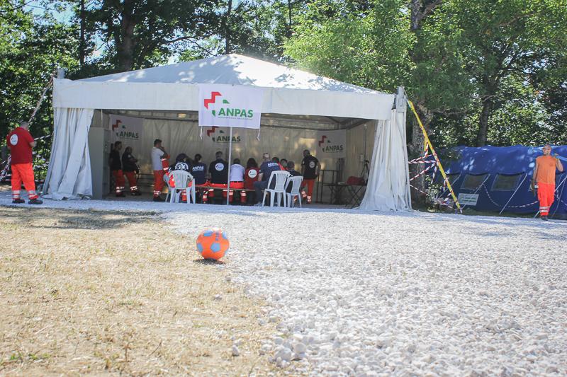 Lo spazio sociale al campo Anpas
