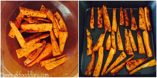 Sweet Potato Wedges Recipe for Toddlers and Kids - step 2