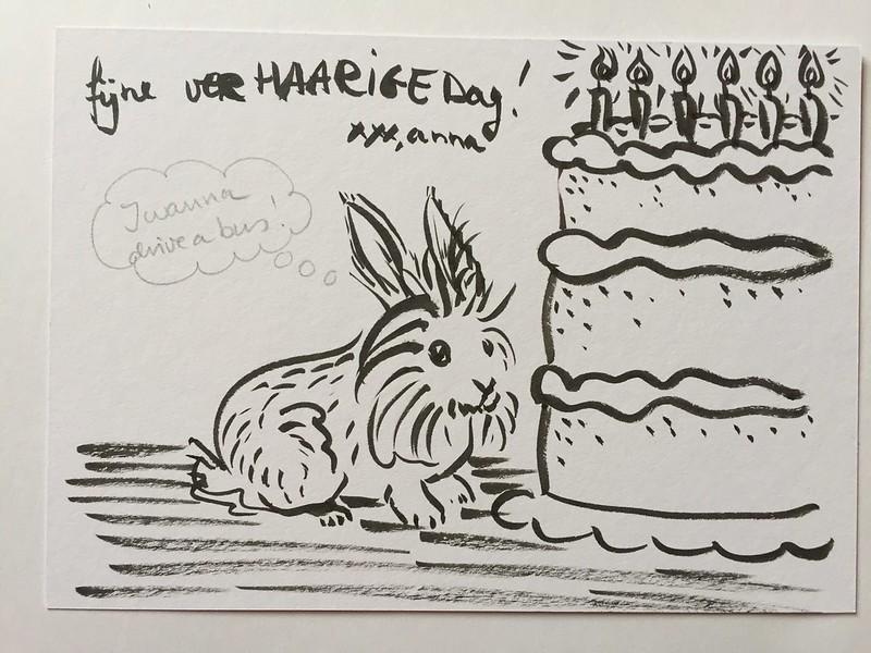 konijn dierendag tekening