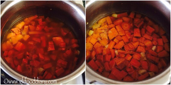 Sweet Potato Carrot Soup Recipe for Babies, Toddlers and Kids - step 3