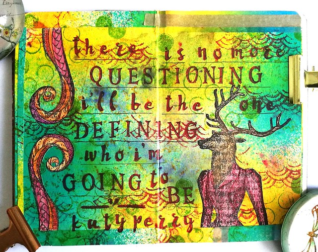 Mini art Journal: No more questioning