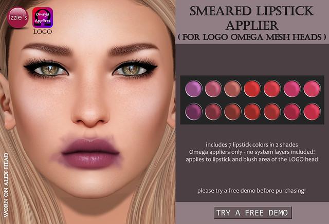 Smeared Lipstick Applier (LOGO Omega)