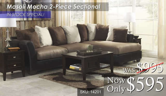 Masoli Mocha Sectional - In Stock