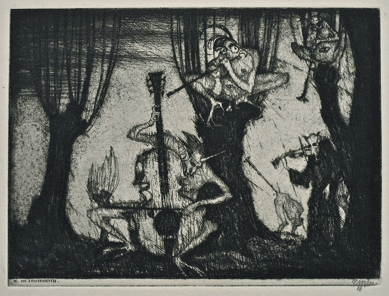 Stefan Eggeler - The Walpurgisnacht Portfolio (six etchings after Gustav Meyrinks) 1922 (5)
