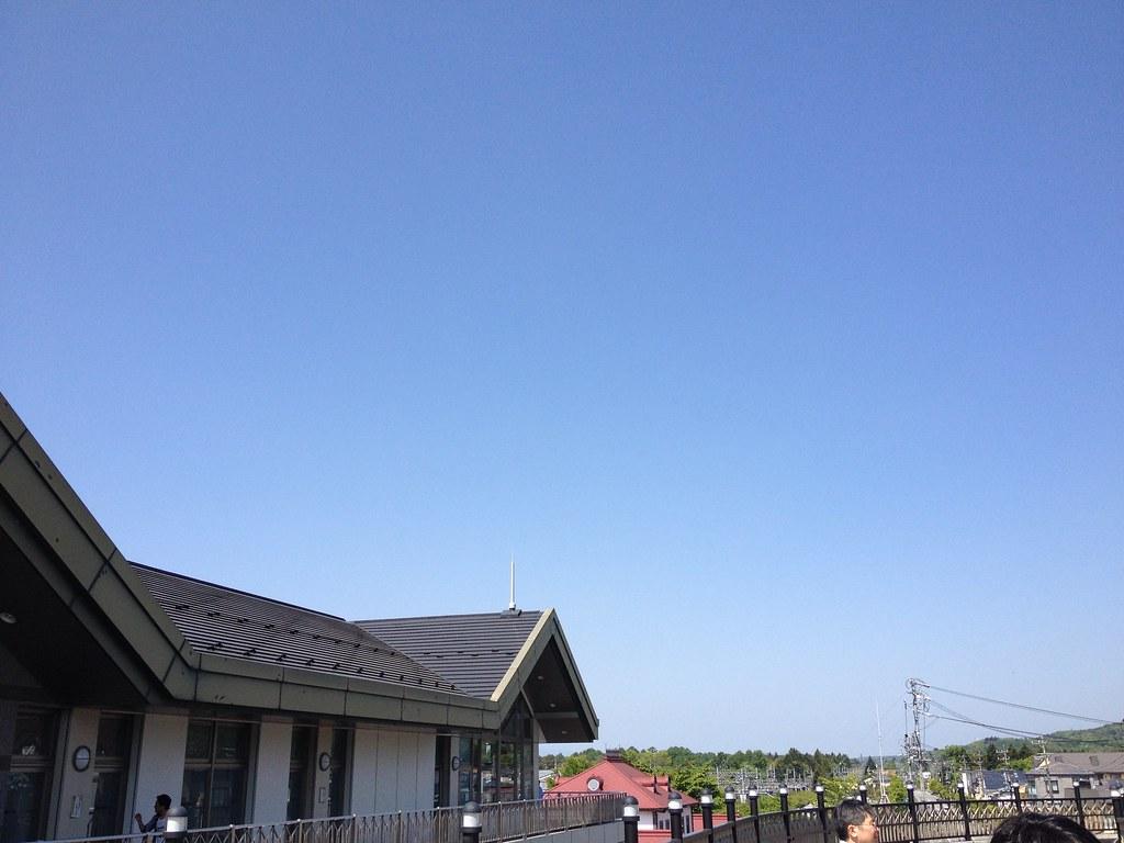 初夏の軽井沢駅前