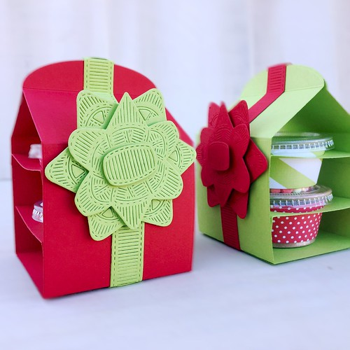 Layered Gift Bow, Snack Wrap Box, and Snack Wrap from Papertry Ink