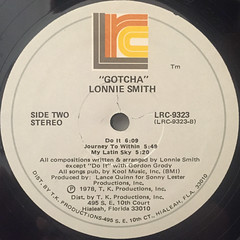 LONNIE SMITH:GATCHA'(LABEL SIDE-B)