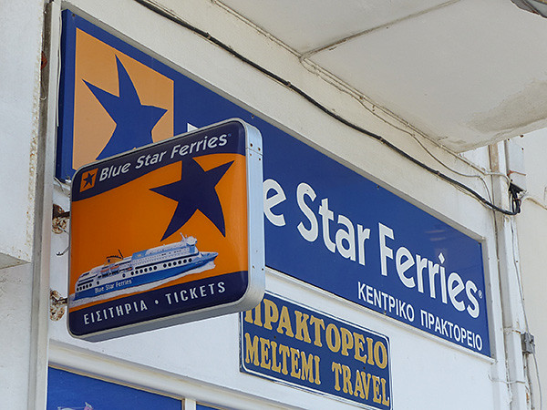 blue star ferries enseigne paros