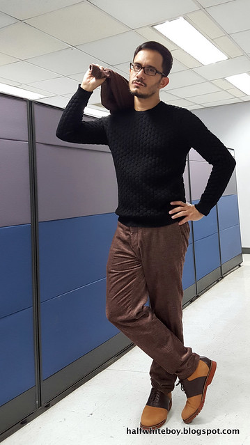 halfwhiteboy velvet suit and waffle sweater 02