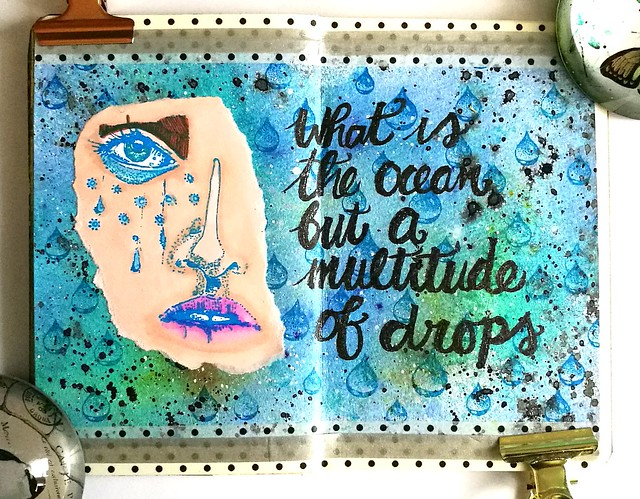 mini art journal a multitude of drops