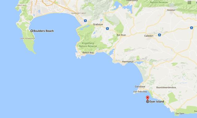 Dyer Island map