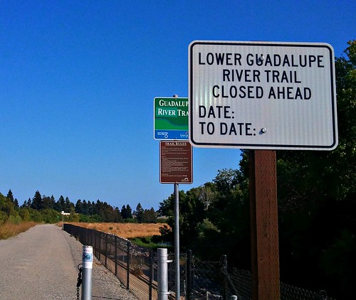 Guadalupe River Trail Closed Ahead | by Richard Masoner / Cyclelicious