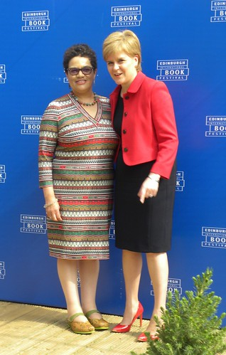 Jackie Kay and Nicola Sturgeon