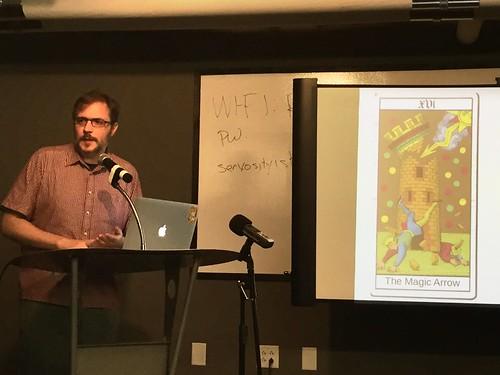 Leonard Richardson presents his talk The Magic Arrow at REST Fest 2016