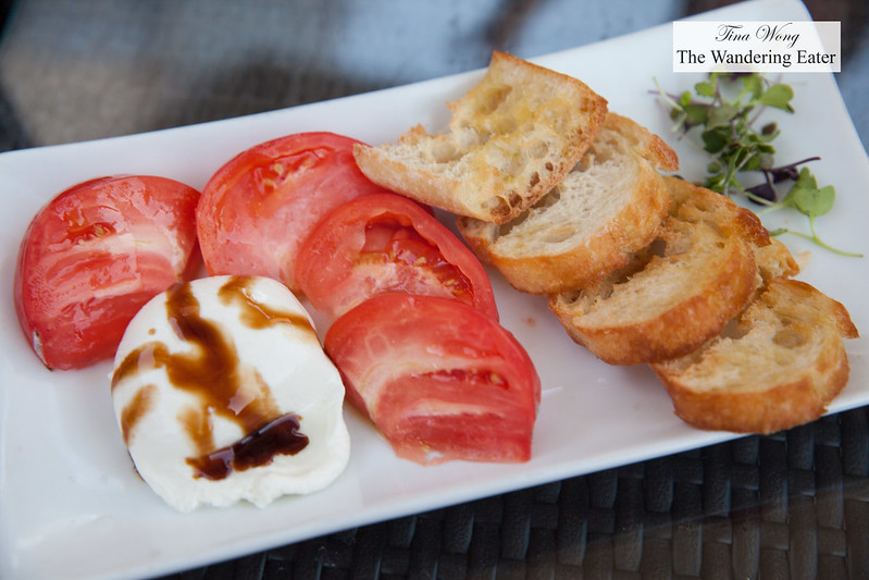 Fresh burrata with balsamic vinegar