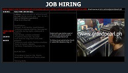 tech crew hiring