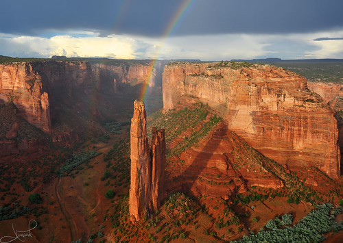 Double Rainbows at Spider Rock, Canyon de Chelly | by tsaiproject