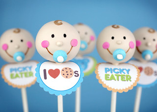 Baby Boy Cake Pops for Jenny | by Bakerella