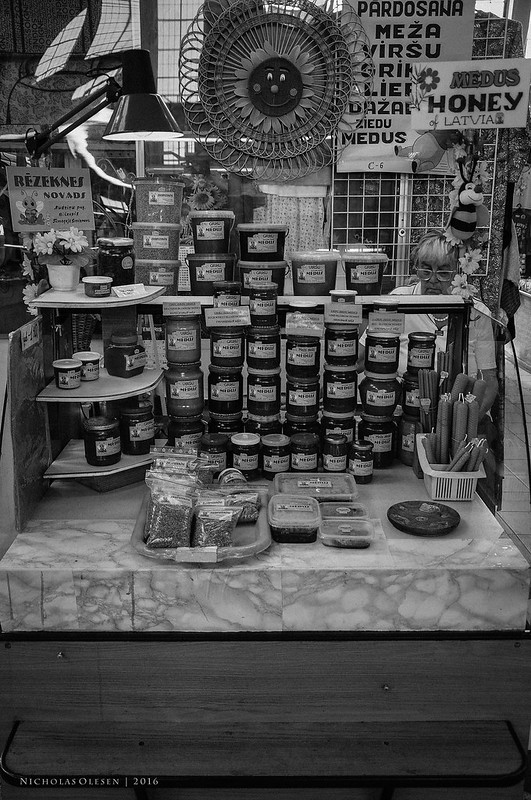 Riga - Central Market Honey Stall