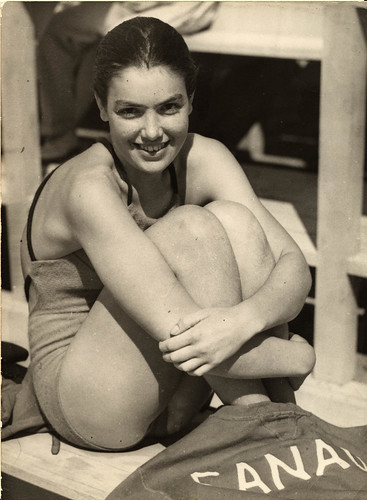 1936 viii unknown berlin - olympics - canadian woman swimmer - front | by blacque_jacques